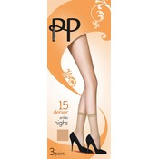 Pretty Polly 15D. Anklehighs (3 pair)