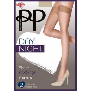 Pretty Polly Pretty Polly 15D. Sheer Suspender Stockings (2 pair)