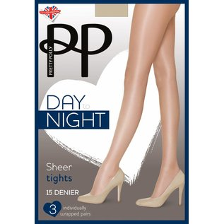 Pretty Polly 15 Denier Sheer panty  3 paar verpakking