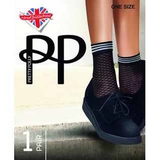 Pretty Polly Pretty Polly Diamond Mesh Ankle Highs (sokje)
