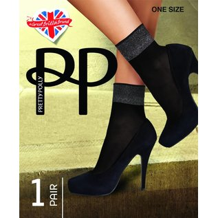 Pretty Polly Pretty Polly Sheer Luxury Welt Anklet (sokje) with Lurex Top