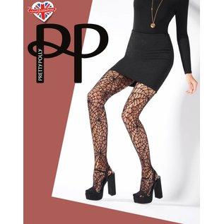 Pretty Polly Pretty Polly CobWeb Net panty one size zwart