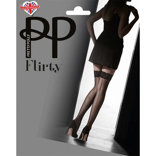 Pretty Polly Flirty Velvet Lace Top Hold Ups met naad