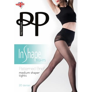 Pretty Polly Patterned Brief Medium Shaper Tights