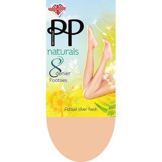 Pretty Polly 8 Den.Naturals Footsies kousenvoetjes