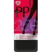 Pretty Polly 250D. Soft Chevron Opaque Tights