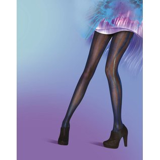 Pretty Polly Blue/Black Wet Look panty