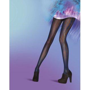 Pretty Polly Blue/Black Wet Look panty