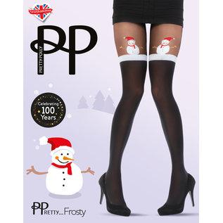 Pretty Polly Pretty Xmas Snowman Mock Tights