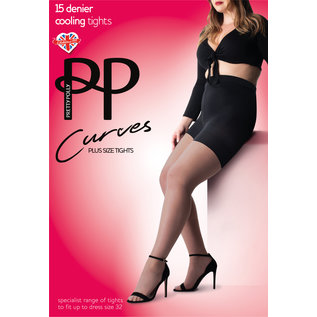 Pretty Polly 15Denier Curves Cooling Panty voor een maatje meer