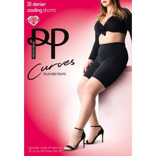 "Pretty Polly Pretty Polly ""Curves"" Cooling Shorts in XL en XXL"