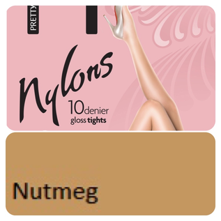 """Pretty Polly 10D. """"Nylons"""" glans Tights"""