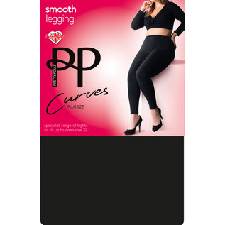Pretty Polly Pretty Polly Curves zwarte legging plus size