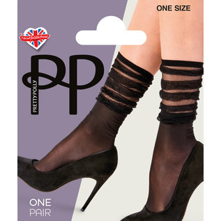 Pretty Polly Pretty Polly Stripe Fall Down Anklets 1PP