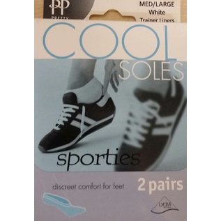 Pretty Polly Pretty Polly Cool Soles sporties trainer liners (2 pair)