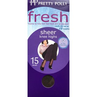 Pretty Polly 15D. Kneehighs with Comfort Top (3 pair)