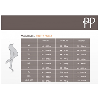 Pretty Polly Pretty Polly 15D. Curves Cooling Tights voor een maatje meer