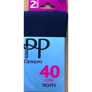 Pretty Polly Pretty Polly 40 denier super soft Opaque Tights (2 pair)