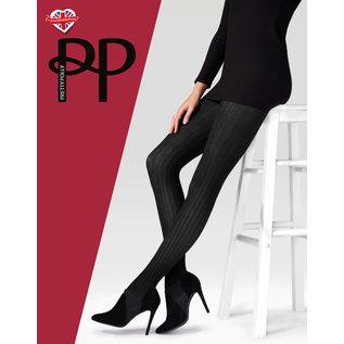 Pretty Polly Pretty Polly Black Velvet Rib Tights