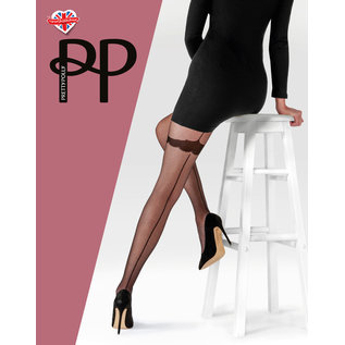 Pretty Polly Pretty Polly Backseam Tights with Patterned Body