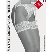 Clio 15D. Suspender Stockings with Lace Top