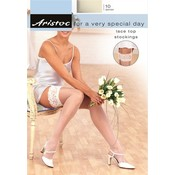 Aristoc 10D. Wedding  Suspender Stockings with Lace Top