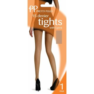 Pretty Polly Pretty Polly 15  denier lycra Tights in XL