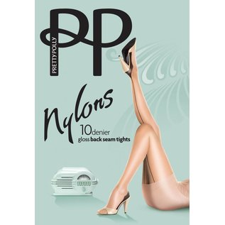 "Pretty Polly 10D. ""Nylons"" gloss Backseam Tights"