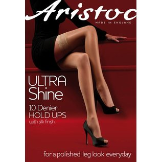 Aristoc 10D. Ultra Shine Hold Ups with silk finish