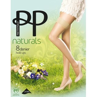 """Pretty Polly 8D. """"Naturals"""" Summer Hold Ups"""