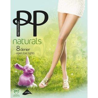 """Pretty Polly 8D. """"Naturals"""" Open teen zomer Panty voor het dragen in een open schoen."""