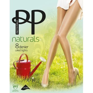 """Pretty Polly 8D. """"Naturals"""" Oiled Shine Summer Tights"""