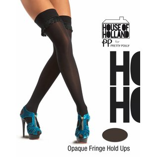 House of Holland Fringing Opaque Over the Knee Hold Ups