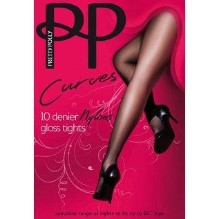 """Pretty Polly 10D. """"Nylons"""" gloss Tights XL & XXL"""