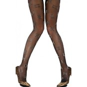 House of Holland Alfabet Silver Tights