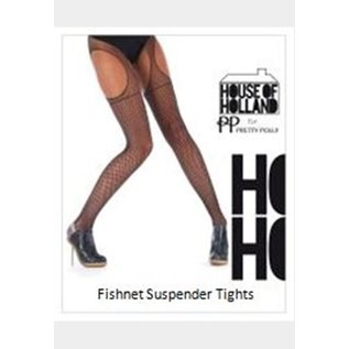 House of Holland Fishnet Suspender Tights