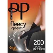 Pretty Polly 200D. Fleecy Opaque Kneehighs