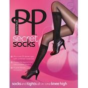 """Pretty Polly """"Secret Socks"""" Model Sock Tights"""