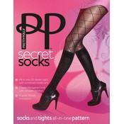 "Pretty Polly ""Secret Socks"" Fashion Model Sock Tights"