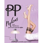"""Pretty Polly 10D. """"Nylons"""" suspender Tights"""