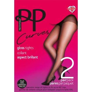"Pretty Polly Pretty Polly 10D. ""Curves"" XL Gloss Tights"