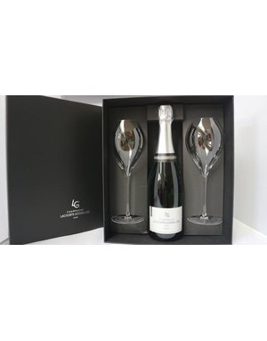 Luxury giftbox Champagne Lacourte-Godbillon with 2 Lehmann glasses