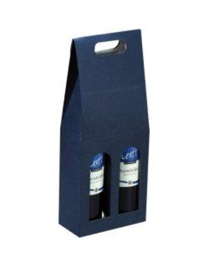 Kartonnen geschenbox voor 2 flessen
