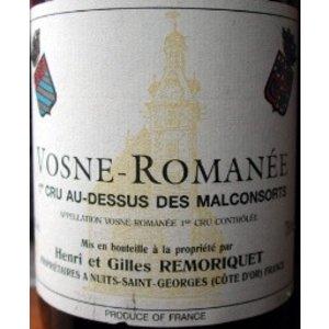 Domaine Remoriquet Vosne Romanée, 1er Cru Au Dessus des Malconsorts 2002