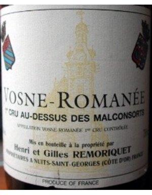 Domaine Remoriquet Domaine Remoriquet, Vosne Romanée, 1er Cru Au Dessus des Malconsorts 2002