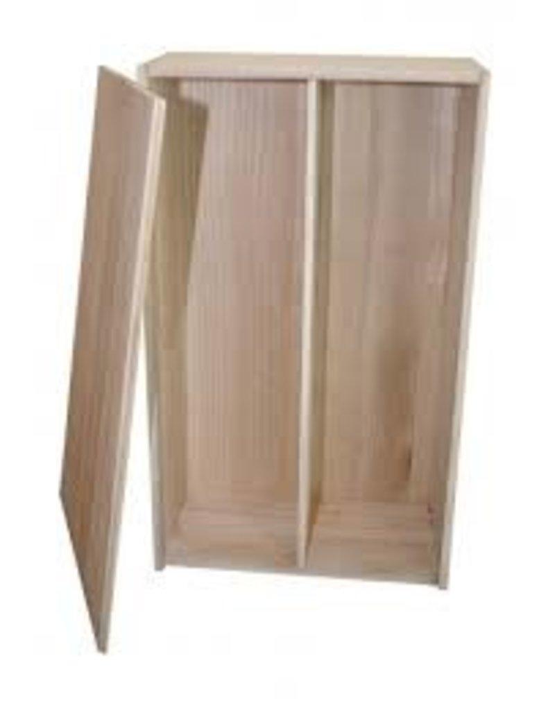 wooden wine box, 2 bottles