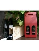 Kartonnen geschenkbox voor 2 flessen