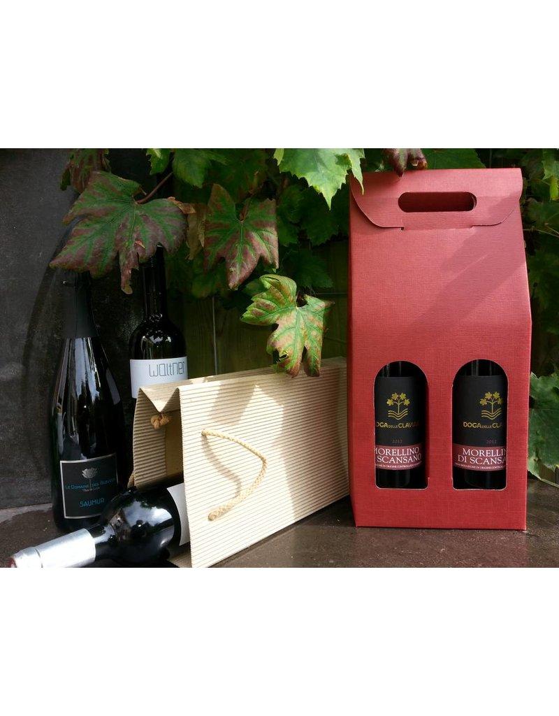 Carton winebox for 2 bottles