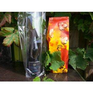 Luxe papieren of plastic geschenkzakje voor 1 fles