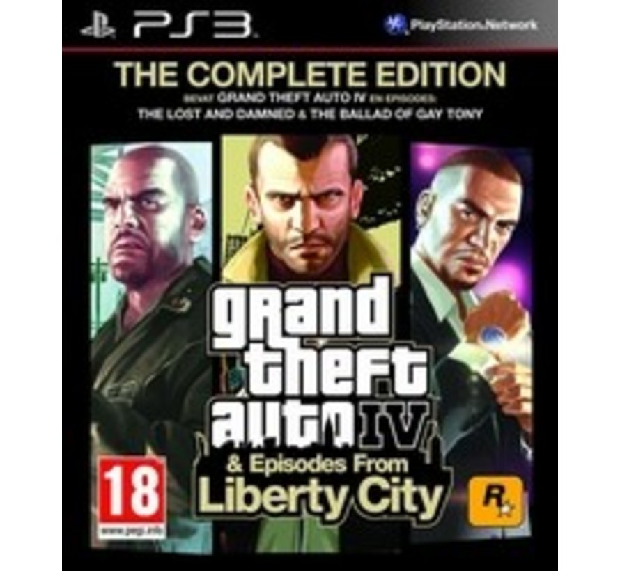 PS3 Grand Theft Auto IV (GTA 4) Complete Edition